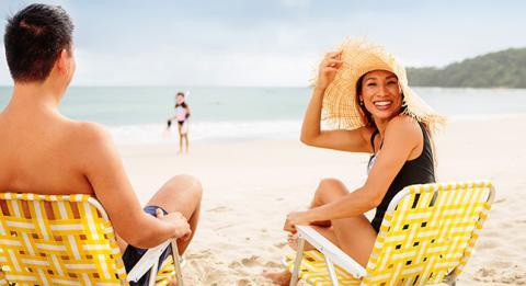 해변에서의 휴식
