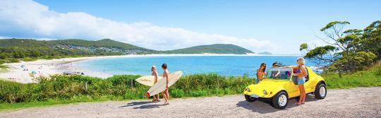 서핑, 포트 스티븐스(Port Stephens)