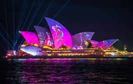 에 오스트 랄 플로라 발레 라이트 프로젝션 시드니 오페라 하우스 ...동안 비비드 시드니(Vivid Sydney)2019